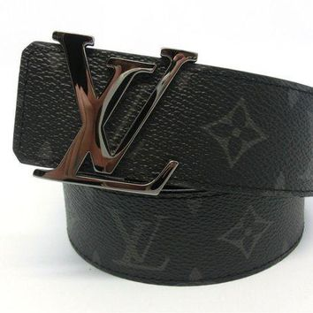 CHEN1ER AUTH Louis Vuitton Monogram Eclipse LV Initials 40mm Reversible Belt M9048 95/38
