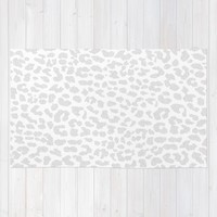Pale Gray Leopard Rug by M Studio