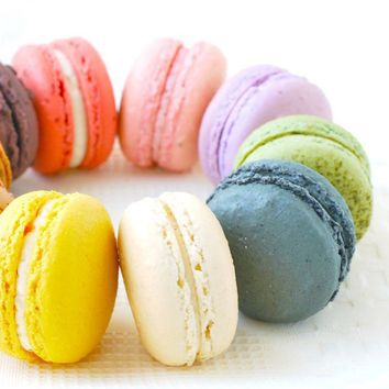 48 Assorted Regular French Macarons Perfect by sparkleskitchen