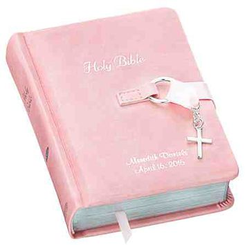 Pink Simply Charming Children's Bible