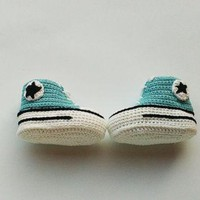 Crochet baby Converse sneakers, Crochet baby shoes, Crochet shoes, Crochet sneakers, C