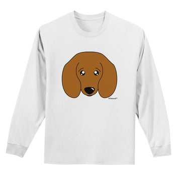 Cute Doxie Dachshund Dog Adult Long Sleeve Shirt by TooLoud