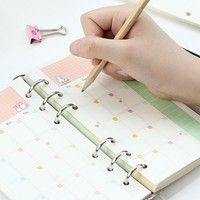 JIANWU  A5 A6Lovely style loose leaf notebook notebook with inner core office supplies  kawaii