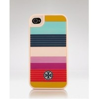 NEW Tory Burch Rainbow Iphone 4 4s Case Stripe Hard Case: Cell Phones & Accessories