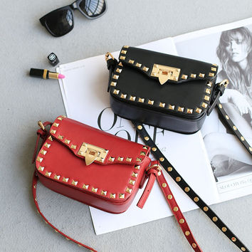 Rivet Chain Korean Bags Strong Character Mini One Shoulder Stylish Phone [4915815556]