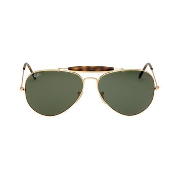 Rayban Metal Frame Green Classic Lens Men's Sunglasses 0RB302918162