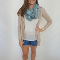 All Wrapped Up Infinity Scarf- Turquoise