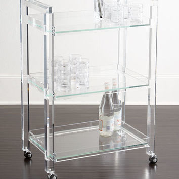INTERLUDE Masae Acrylic Bar Cart
