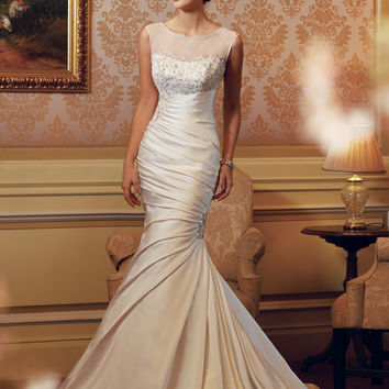 Sophia Tolli by Mon Cheri Y11405 Ruched Illusion Bridal Gown