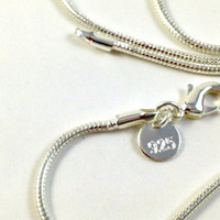 Sterling Silver .925 2mm Snake Chain Lobster Clasp