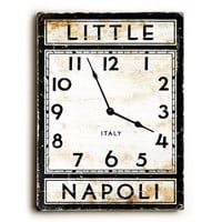 Little Napoli Italy Unique Wall Clock by Artist Peter Horjus