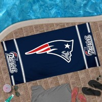 "New England Patriots 30"" x 60"" Logo Beach Towel - Navy Blue"