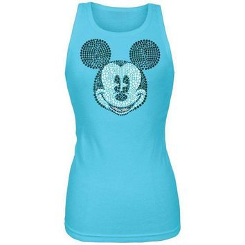 ICIKIS3 Mickey Mouse - Bling Face Juniors Tank Top