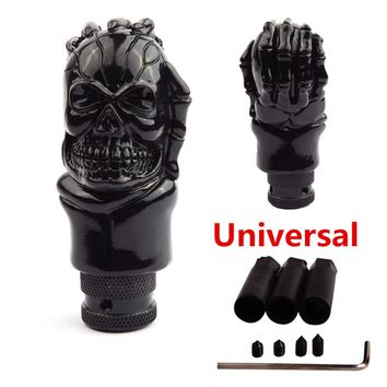 Universal ABS Skull Head Car Gear Shifter Knob Skull Shifter Lever Fit For Manual Transmission