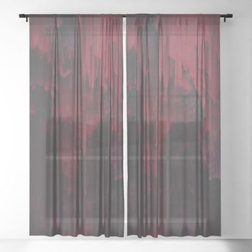 Sangre Sheer Curtain by duckyb