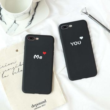 2018 New Valentine's Day Gift Phone Case For iPhone 6 6s 7 8 plus X Hard PC Couple Phone Case Cover You and Me Coque fundas
