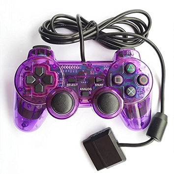 Bowink Wired Gaming Controller for Ps2 double shock - Purple