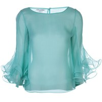 Oscar De La Renta Flounced Sleeve Blouse - Marissa Collections - Farfetch.com