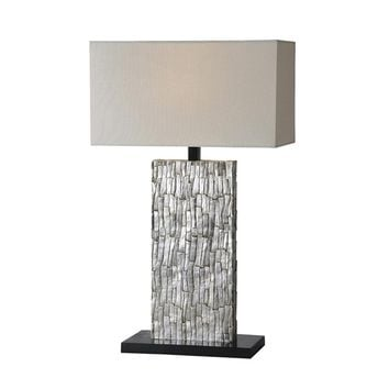 Santa Fe Table Lamp Silver leaf Small