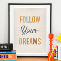 Inspirational Nursery art print Typography poster by handz on Etsy