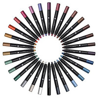 SHANY Multi-Use Chunky Pencils for Eye Shadow, Eyeliner, Lip Liner, Lipstick - W/ Vitamin E & Aloe Vera - Set of 30 Colors