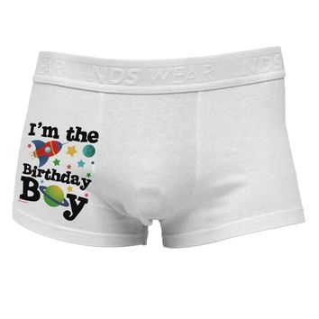 I'm the Birthday Boy - Outer Space Design Side Printed Mens Trunk Underwear by TooLoud