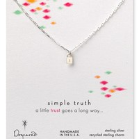 Dogeared Simple Truth Trust Necklace, 16"