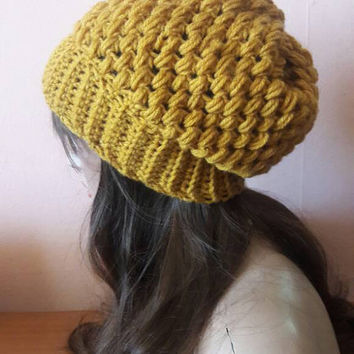 Slouchy Urban Beanie Chunky Beanie Handmade Hat  Men Women Teen to Adult Celebrity Hat  Dreadlock Hat Fashion Accessories Unique Gift Ideas