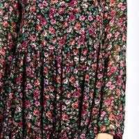Savannah Ditsy Floral Woven Smock Dress