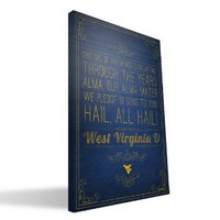West Virginia Mountaineers 16x24 Song Canvas Print