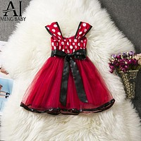 Little Girl Minnie Mouse Costume Kids Tulle Minnie Outfits Children's Girl Clothing