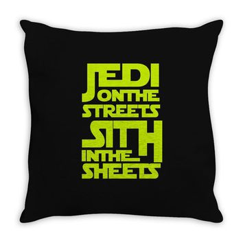 Jedi On The Streets Sith In The Sheets Throw Pillow