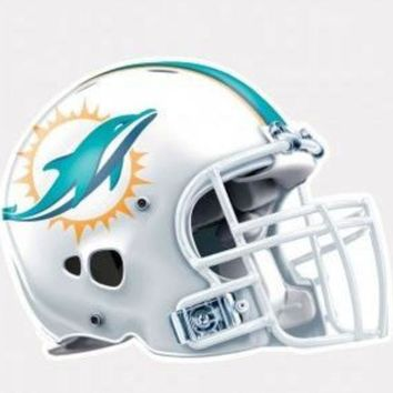 DCCKG8Q NFL Miami Dolphins 4'x4' Perfect Cut Helmet Decal