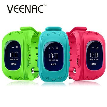 VEENAC Anti Lost Q50 OLED GPS Kid Safe smart Watch SOS Call Location Finder Locator Tracker For Child Monitor Baby Wristwatch