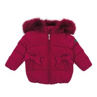 Pramie Girls' Hot Pink Down Coat