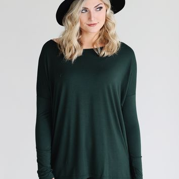 Moss PIKO Long Sleeve Top