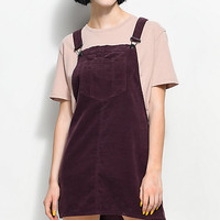 Empyre Penny Plum Corduroy Overall Dress