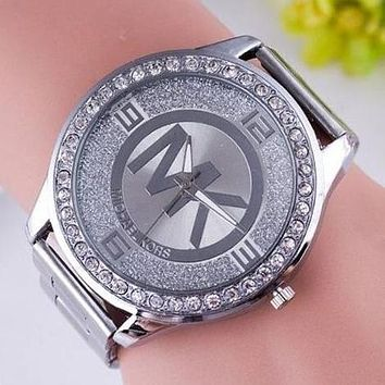 MK MICHAEL KORS Fashion Women Men Movement Watch Lovers Wrist Watch Silvery  I12597-1 75e9aa3dd