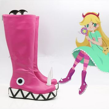 Star vs.the Forces of Evil Princess Star Butterfly Magic Cosplay Shoes Boots Halloween