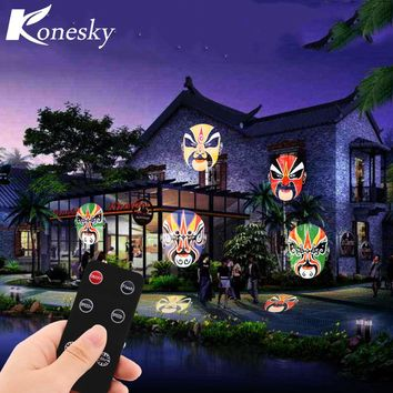 12W Remote Control LED Projector Stage Light with 20pcs Colorful Gobo for Xmas Birthday Christmas Halloween Party Holiday Decor