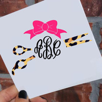 Cheetah Hairstylist Monogram Decal | Cheetah Cosmetologist Decal | Hair Stylist Decal | Hair Dresser | Salon Decal | Monogram Yeti Decal