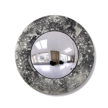 Moon Collection | Convex Mirror - Light Grey