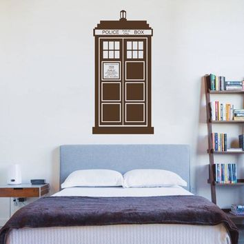 ik2242 Wall Decal Sticker Time Machine Spaceship tardis doctor who bedroom