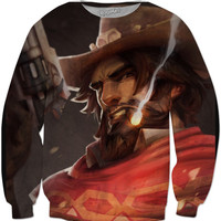 Overwatch Mccree Crew Neck Sweater