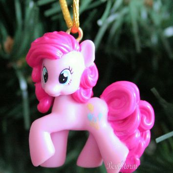 Licensed cool CUSTOM LP MY LITTLE PONY PINKIE PIE Pink Christmas Holiday Ornament PVC Hasbro