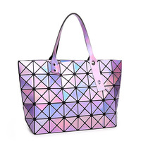 Hot Sale Famous Brand Women Handbag Laser Lattice Diamond Shoulder Bag Colorful Bao Bao Bag Fashion Designers Totes Ladies Bolsa