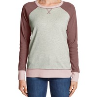 Women's Legend Wash Colorblocked Crewneck Sweatshirt | Eddie Bauer