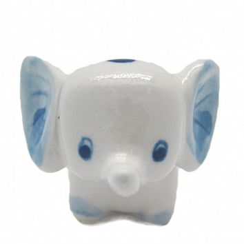 Ceramic Miniatures Animals Delft Blue Elephant