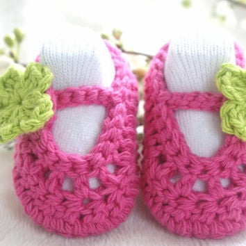 Crochet Ballerina Baby Shoes/Slippers 36 months in by bummybaby