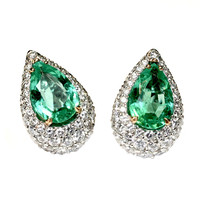 Pear Colombian Emeralds